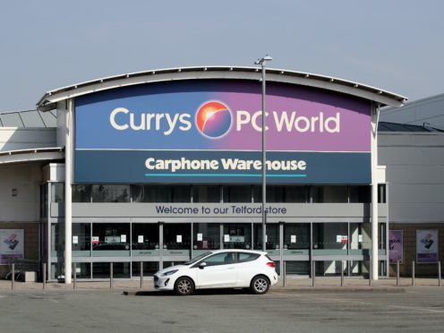 Currys PC World has faced a surge of complaints, Which? said (Nick Potts/PA)