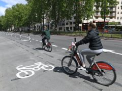 A survey suggests opposition to bike lanes is overestimated (Stefan Rousseau/PA)