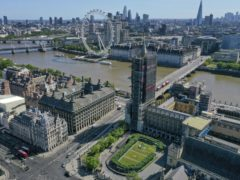 An aerial view of London landmarks (Steve Parsons/PA)
