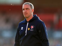 Michael Duff praised the contribution of striker George Lloyd (Mike Egerton/PA)