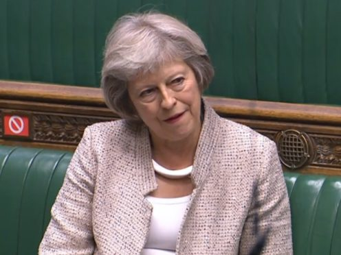Former prime minister Theresa May (House of Commons/PA)