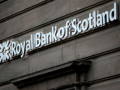 The robber targeted a Royal Bank of Scotland in Glasgow (Jane Barlow/PA)