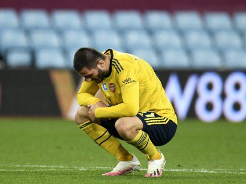 Arsenal defender Sead Kolasinac has returned a positive Covid-19 test (Peter Powell/NMC Pool/PA)