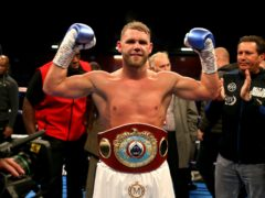 Billy Joe Saunders defends his WBO super-middleweight title on Friday (Paul Harding/PA)