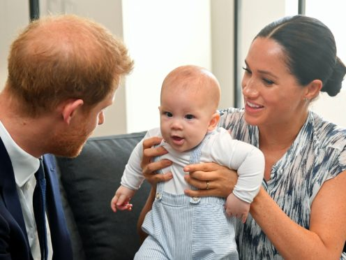 The Duke and Duchess of Sussex and son Archie will have their first Thanksgiving meal in America. Toby Melville/PA Wire