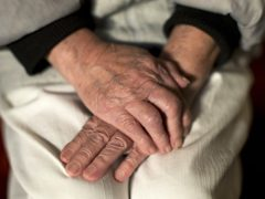 The hands of an elderly woman (Yui Mok/PA)