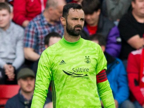 Aberdeen goalkeeper Joe Lewis apologised for his mistake in the defeat to St Mirren (Jeff Holmes/PA)