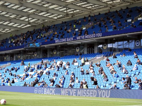 Brighton are ready to welcome fans back to the Amex (Adam Davy/PA)