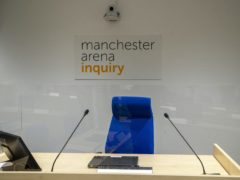 The room where the Manchester Arena Inquiry is being held (Peter Byrne/PA)