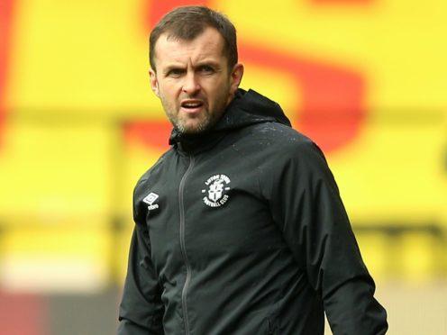 Luton manager Nathan Jones (Nigel French/PA)