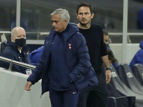 Frank Lampard, right, will take on old boss Jose Mourinho again on Sunday (Matt Dunham/PA)