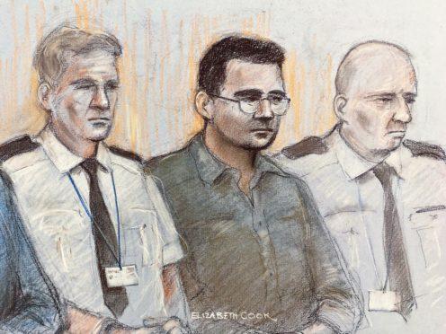 Eamonn Harrison in court (Elizabeth Cook/PA)