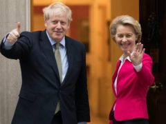 Boris Johnson and Ursula von der Leyen are due to talk by phone on Saturday (Stefan Rousseau/PA)