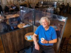 Founder and Chairman of JD Wetherspoon, Tim Martin in the Hamilton Hall pub, in central London (Dominic Lipinski/PA)