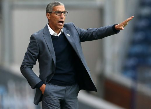 Chris Hughton's side secured back-to-back wins for the first time this season (Barrington Coombs/PA)