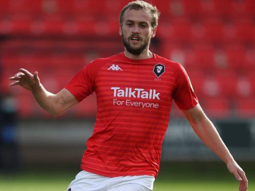 Salford striker James Wilson will miss the visit of Bradford (Nick Potts/PA)