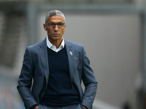Chris Hughton secured his second win as Forest boss (Barrington Coombs/PA)