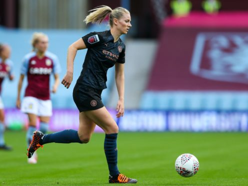 Gemma Bonner and Manchester City face a Manchester United outfit that are on a five-match winning streak in the WSL (Barrington Coombs/PA).