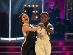 Nicola Adams and Katya Jones will dance to a track from Grease for movie week (Guy Levy/BBC)