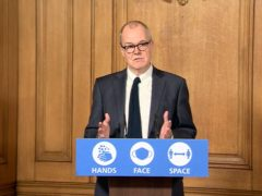 Chief scientific adviser Sir Patrick Vallance speaks during a Downing Street press conference (PA)