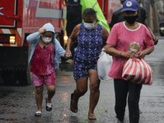Residents have been evacuated as the typhoon locally known as Goni began to lash Manila, Philippines (Aaron Favila/AP)
