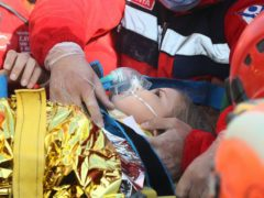 Ayda Gezgin was pulled from the rubble in Izmir (AFAD via AP)