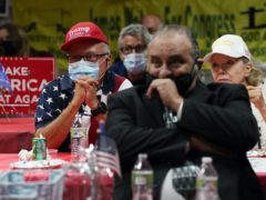 Supporters of President Donald Trump wait for election results Tuesday, Nov. 3, 2020, in Stanton, Calif. (AP Photo/Ashley Landis)