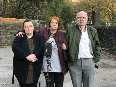 From left, Claire Lewis, Debbie Mountjoy and David Lewis (Channel 4 News)