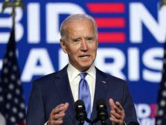 Democratic presidential candidate Joe Biden speaks Friday, November 6 in Wilmington, Delaware (Carolyn Kaster/AP)