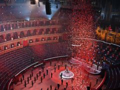 The Poppy Drop at The Royal British Legion's Festival of Remembrance at the Royal Albert Hall (Mark Allan/The Royal British Legion/PA)