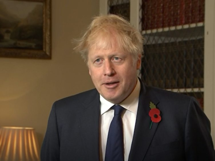 Boris Johnson said there will be no change in the status of the UK-US relationship following Joe Biden's presidential election win (PA Video/Screengrab)