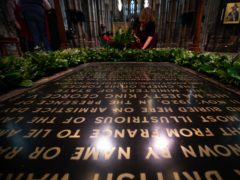 The grave of the Unknown Warrior in Westminster Abbey, London (Aaron Chown/PA)