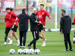 "Wales caretaker boss Robert Page says absent manager Ryan Giggs is ""a phone call away"" (Nick Potts/PA)"