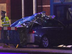 A man has been arrested after a vehicle collided with the police station (Kirsty O'Connor/PA)