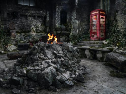 The new camp at Gwrych Castle (ITV)