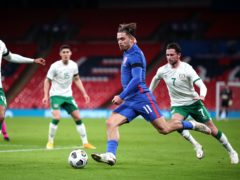 England's Jack Grealish (centre) in action against the Republic of Ireland (Nick Potts/PA)