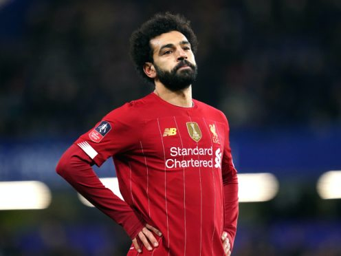 Liverpool forward Mohamed Salah is said to be showing only mild symptoms (John Walton/PA)