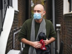 Dominic Cummings outside his north London home after he resigned from his role as Boris Johnson's top aide (Kirsty O'Connor/PA)