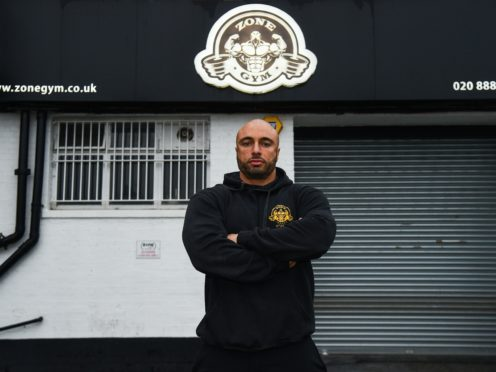 Andreas Michli at his Zone Gym in Wood Green, north London (Kirsty O'Connor/PA)