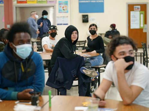 Students at West Brooklyn Community High School (Kathy Willen/AP)