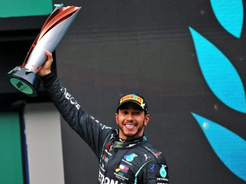 Lewis Hamilton vowed to keep fighting against racial injustice as he was named the most influential black person in Britain (PA)