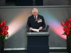 The Prince of Wales gives a speech in the Bundestag (German Federal Parliament) in Berlin (Jonathan Brady/PA)
