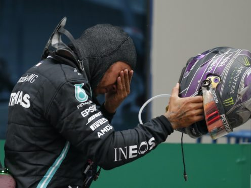 An emotional Lewis Hamilton clinched his seventh world title in Turkey (Kenan Asyali/AP