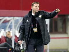 Northern Ireland manager Ian Baraclough saw his side concede two late goals to Austria (Florian Schrotter/PA).