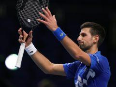 Novak Djokovic salutes an empty arena after beating Diego Schwartzman (John Walton/PA)