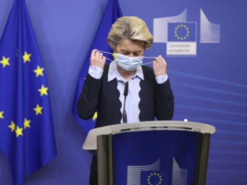 Ursula von der Leyen gave a statement on Wednesday (Kenzo Tribouillard, Pool Photo via AP)