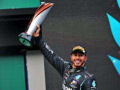Lewis Hamilton won his seventh F1 world title on Sunday (PA)