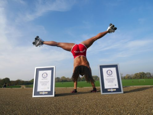 Londoner Tinuke O'Yediran achieved two world records this year (Guinness World Records/PA)