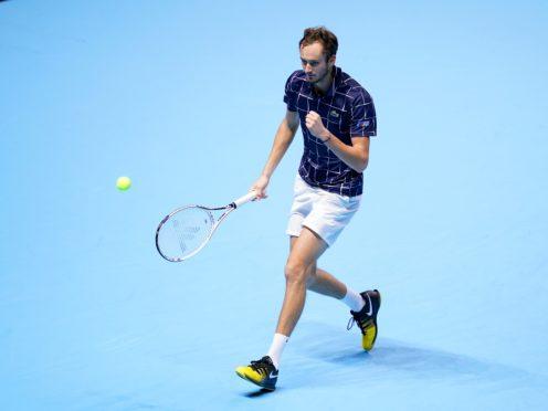 Daniil Medvedev was in exceptional form against Novak Djokovic (John Walton/PA)