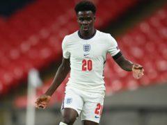 Bukayo Saka impressed for England during the November international break (Michael Regan/PA)